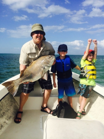 Family Fishing Charters The Thrill of Victory Black Drum